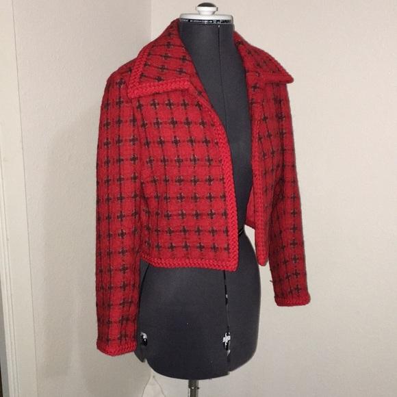 Vintage Jackets & Blazers - Vintage Couture crop coat London Small medium